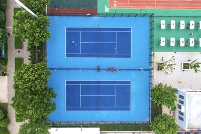 Quy trình thi công sơn sân tennis