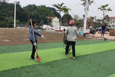 Quy trình, biện pháp thi công sân bóng đá cỏ nhân tạo