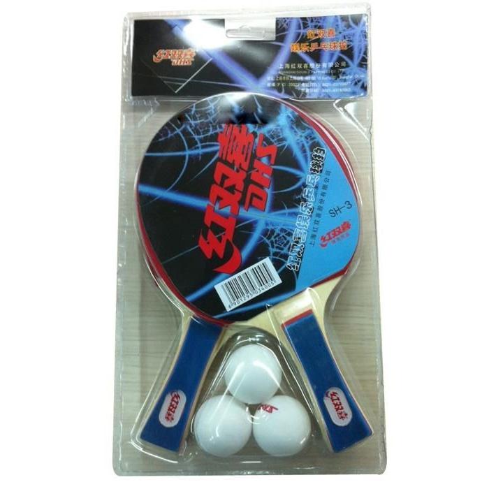 Vợt bóng bàn gỗ (2 vợt, 3 bóng)