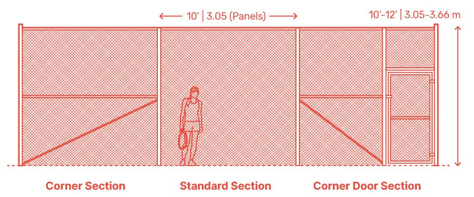 Hàng rào bảo vệ bóng trong sân